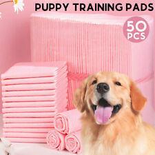 More details for 50pcs large puppy training pads 60x45cm toilet pee wee mats pet dog cat pink