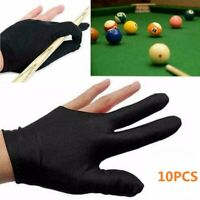 10pcs 3 Fingers Billiard Cue Pool Gloves Snooker Left Hand Nylon Accessory