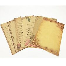 Eternityfing Vintage Lace Kraft Lined Writing Paper Stationary Paper Sets-64 She
