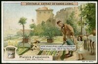 The Flowers Friend The Gardener L'ami Des Fleurs c1909 Trade Ad  Card