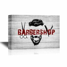 wall26 - Hair Style Canvas Wall Art - Cool Barbershop Concept - 12x18 inches