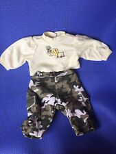 Adora Boy Doll Outfit Green Camouflage Suit