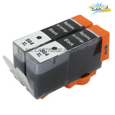 2PK New 564XL Black Ink Cartridge for HP Photosmart 6510 6520 7510 7520 Printer