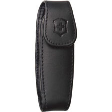 Victorinox Swiss Army Leather Clip Pouch - Medium - Black