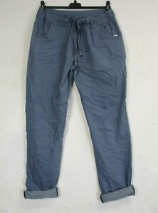 LagenLook Ladies Stretchy 95% Cotton 'Magic' Trousers/Pants :Plus (XXL) (XXXXL)