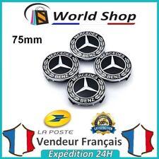 4 centres de roue Mercedes Cache moyeu 75mm jantes logo  AMG 75 mm Full black