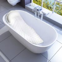 US 3 in 1 Full Body Spa Bath Pillow Mat Non-Slip Bathtub Mattress w/Suction Cups