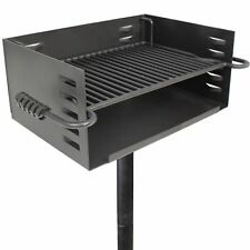 Titan Single Post JUMBO Park Style Grill Charcoal Outdoor Heavy Cooking Camp
