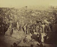 Union 61st New York Infantry Drum Corps Falmouth VA 1863 8x10 US Civil War Photo
