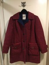 Vintage The Original Penguin Red And Blue Wool PeaCoat Large