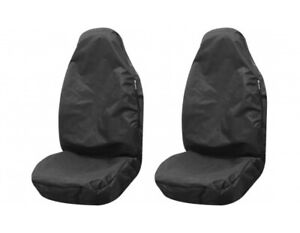 Fits Vauxhall Astra H Set of 2  Front Seat Protector Waterproof  - Black