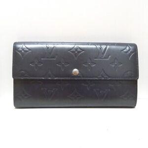Auth LOUIS VUITTON Pochette Porte Monnaie Credit M65172 Noir Monogram Mat Wallet