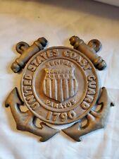 United States Coast Guard brass Emblem approx 7x7