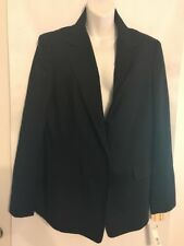 Realities Jacket Wool Black Button Up Front Size 14  NWT $228