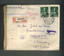 1944 Amsterdam Netherlands to Germany Cover Watenstedt Concentration Camp KZ