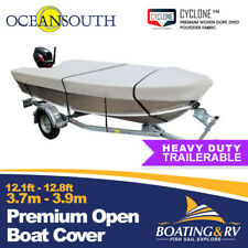 OceanSouth Open Boat Cover Size 3.7 - 3.9m | Trailerable Semi Custom Boat Cover