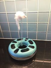 Cat Spinning Ball Toy with Mouse Toy  - Interactive Play Present Pet Exc Cond