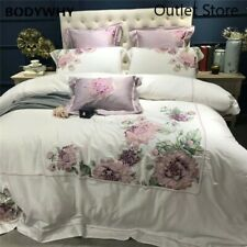 Luxury Egyptian Cotton Embroidery Duvet Cover Set 4/7 Pieces Bedding Set Bed Set
