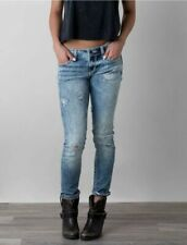 Womens Buckle Black Skinny Jeans Fit No.236 Actual 30X30 Distressed Stretch VGC