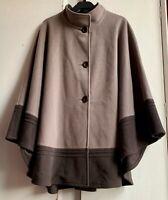 Stunning *JIMMY HOURIHAN* Irish Wool Cashmere Poncho Wrap Jacket Cape