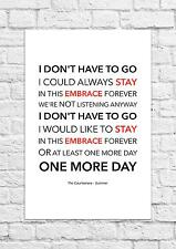 The Courteeners - Summer - Song Lyric Art Poster - A4 Size