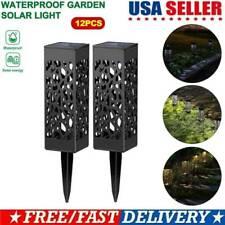 12PCS Solar Powered LED Outdoor Light Lawn Pathway Landscape Garden Walkway Lamp