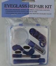 16 Pc. Eyeglass Repair Kit with case screws, nose pads-more Sunglasses Optical