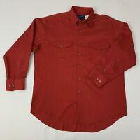 Wrangler Mens 16-33 X Long Tails Red Long Sleeve Western Cowboy Shirt