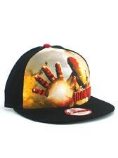 New Era Iron Man 9fifty Snapback Hat Adjustable Cap Marvel Studios Mark 42 NWT