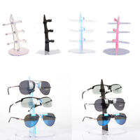 Holds 3 Pairs Of Eyeglasses Sunglasses Storage Display Stand Case Holder