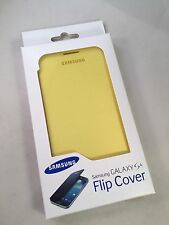 Brand New Official - Samsung Galaxy S4 Flip Cover Case - Yellow  - I9500 I9505