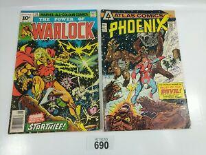 Atlas Comics Phoenix No3 Marvel The power of the Warlock 14 Aug Job Lot 2x1 #690