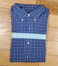 """Ralph Lauren Men's """"Blake"""" Blue Check Shirt New on Card - Size XL"""