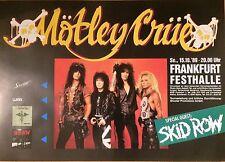 MÖTLEY CRÜE  1989  FRANKFURT  --  orig. Concert Poster - Konzert Plakat A1  NEU