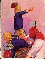 1946 ODESSA vs EL PASO (TEXAS) High School PLAYOFF Football Program HAYDEN FRY