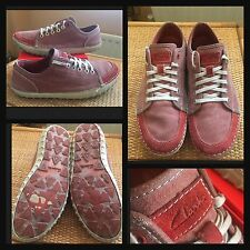 Rare CLARKS Collection- Men's Leather Trainers - UK 7.5