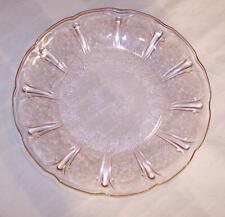 PINK DEPRESSION GLASS CHERRY BLOSSOM DINNER PLATE