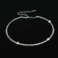 Women Charming Clear Rhinestone Crystal Choker Collar Necklace Wedding Necklace
