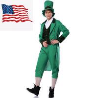Adults Men Mr Leprechaun Costume Irish St Patrick's Day Suit Halloween Costume