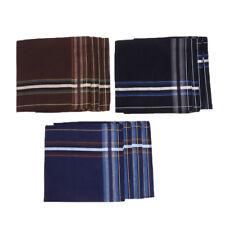 6Pairs Mens Pocket Hanky Cotton Handkerchief Square Handkerchiefs 43 x 43cm