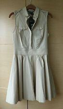 BNWT, PALE BEIGE MINI SHIRT DRESS BY ARMANI EXCHANGE- SIZE 0 (ABOUK UK 6-8)