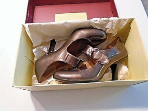 Sofft Fable Anthracite Patent Leather Womens Shoes Sz.  7.5