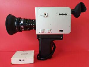 Beautiful Vintage Design // Braun Nizo S 56. Super 8 Movie Camera & Case /