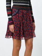 DVF Marisa montage mini rubiate dot front pockets silk skirt NWT 6 $228.00
