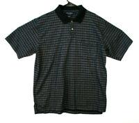 Daniel Cremieux Polo Shirt Black Mens Size L (165)