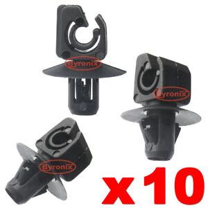 FORD REAR BRAKE LINE HOSE PIPE CLIPS BLACK PLASTIC HOLDER FASTENER FIXING X 10