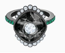 Black Baroque Pattern Ring Ruthenium 6 E52 Swarovski Jewelry 5511388