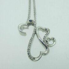 Sterling Silver Jane Seymour Open Heart Diamond Necklace