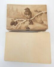 "1G Lot Antique 'BIRD ON A BRANCH"" Greeting Card 27 Pcs E.W. Bristol England"