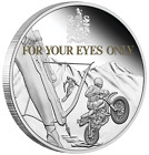 2021 James Bond For Your Eyes Only 40th Ann 1oz SILVER PROOF Colored $1 COIN 007